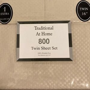 Traditional At Home 4pc Twin Sheet Set honey beige